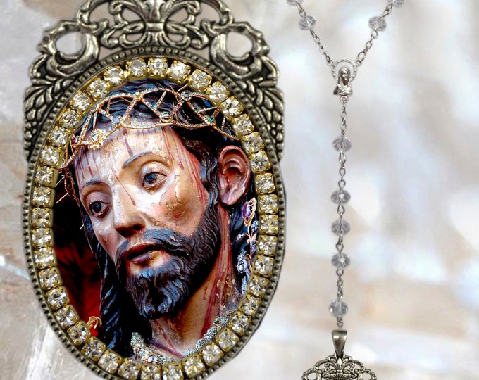 Lord Holy Christ of the Miracles (Azores) - Rosary - Senhor Santo Cristo dos Milagres (Açores) - Handmade Religious Christian Jewelry