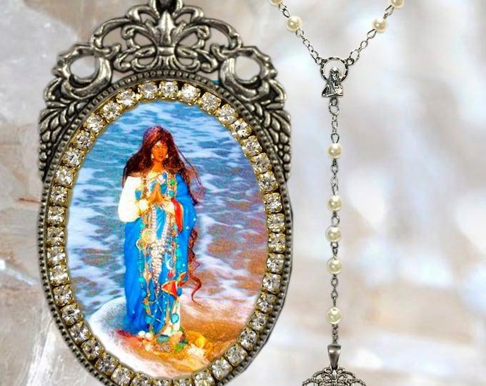 Sarah Kali Rosary or Sara Kali Patroness of Romani People (Gypsies) Handmade Necklace Jewelry Medal Pendant
