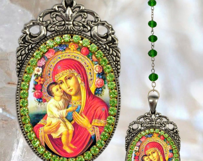 Our Lady of Pompeii Rosary - Handmade Catholic Christian Religious Jewelry Medal Pendant