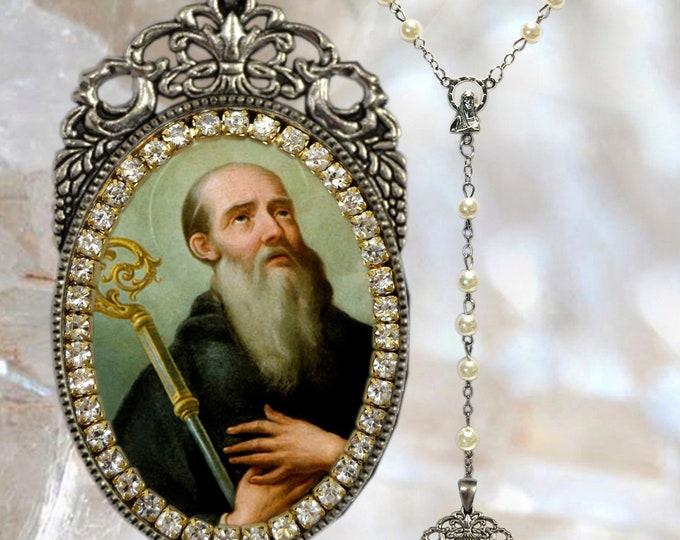 Benedict of Nursia Rosary -  Patron Saint of Agricultural Workers; Civil Engineers; Farmers; Inflammatory Diseases & Kidney Disease