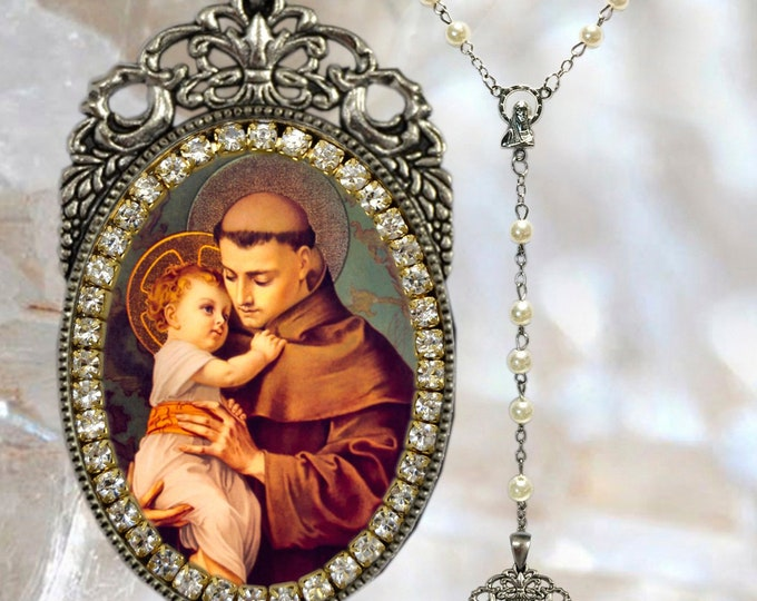 Anthony of Padua Rosary - Santo António de Lisboa - Patron Saint Of Lisbon; Lost Items; Lost People & Lost Souls - Handmade Jewelry