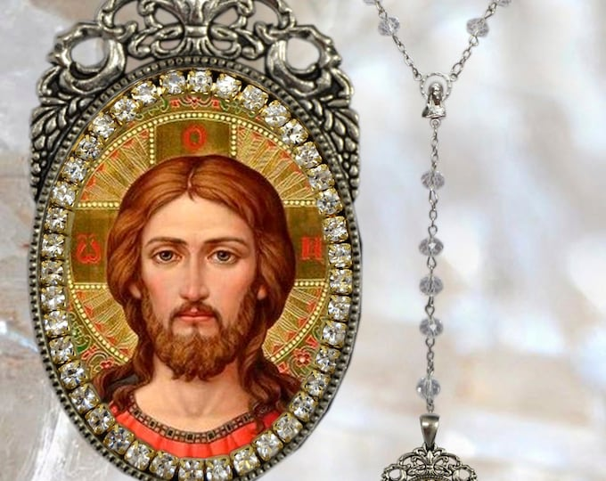 Jesus Christ  Handmade Necklace Religious Christian Jewelry Medal Pendant
