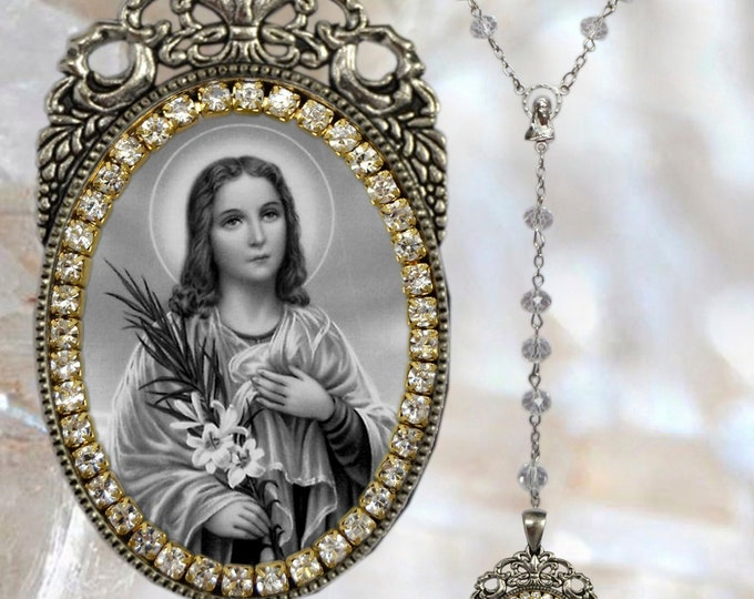 Goretti (Saint Maria)– Rosary Patroness of Victims of Rape; Crime Victims; Teenage Girls; Modern Youth & Children of Mary - Handmade Jewelry
