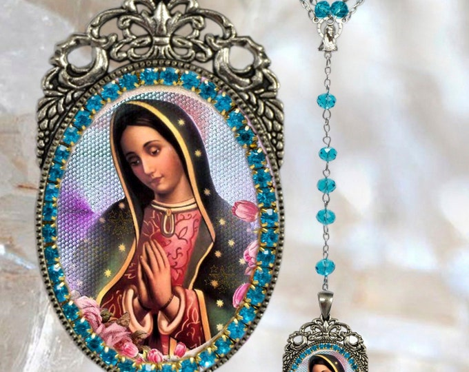 Guadalupe (Our Lady) Rosary  - Patroness of Mexico & The Americas Handmade Catholic Religious Jewelry Medal Nossa Senhora de Guadalupe