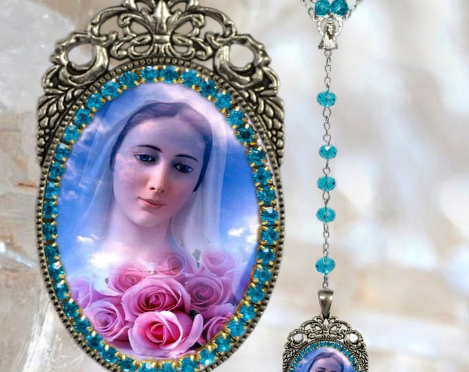 Medjugorje Rosary - Handmade  Catholic Christian Religious Jewelry Medal Pendant