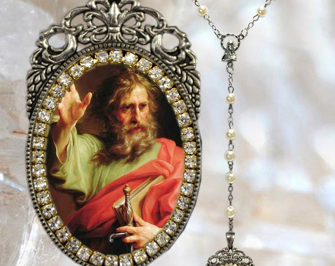 Paul The Apostle  Rosary - Patron Saint of Missions; Theologians & Gentile Christians - Handmade Rosary Catholic Christian Religious Jewelry