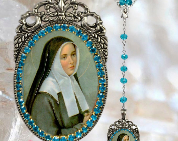 Saint Bernadette Soubirous  – Rosary - Patroness of Bodily Illness; Shepherds; Shepherdesses & Against Poverty - Handmade Rosary