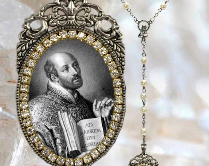 St. Ignatius Loyola - Rosary - Handmade Catholic Christian Religious Jewelry Medal Pendant The Society of Jesus Order