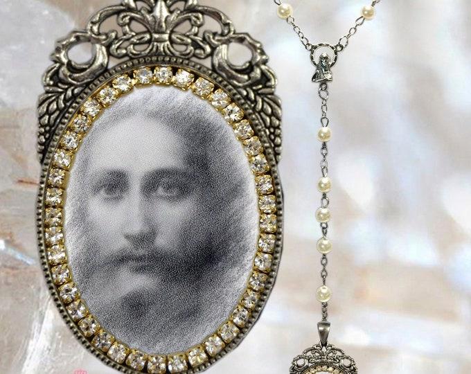 Jesus Christ  Handmade Rosary Religious Christian Jewelry Medal Pendant