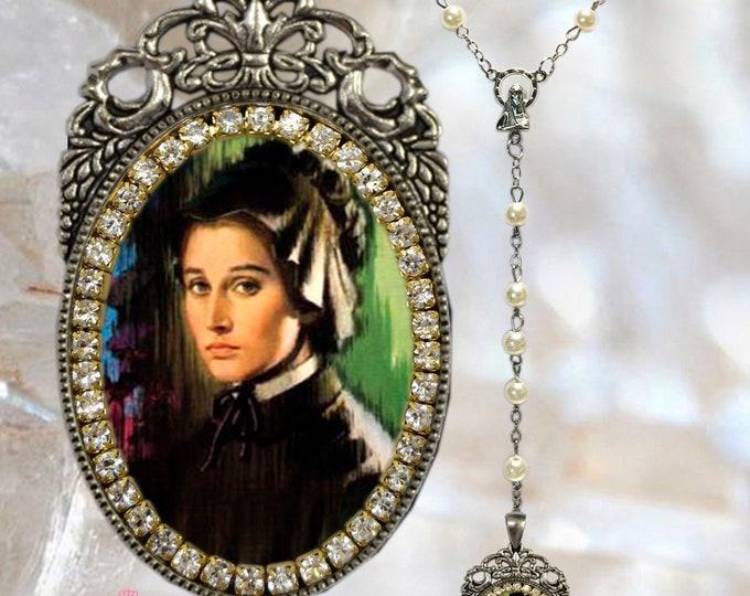 Elizabeth Ann Seton – Rosary - Patroness of Catholic Schools - Handmade Rosary Jewelry Medal Pendant