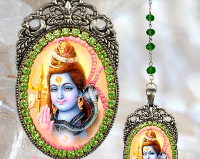 Lord SHIVA Rosary - Handmade Hindu Jewelry Medal Pendant