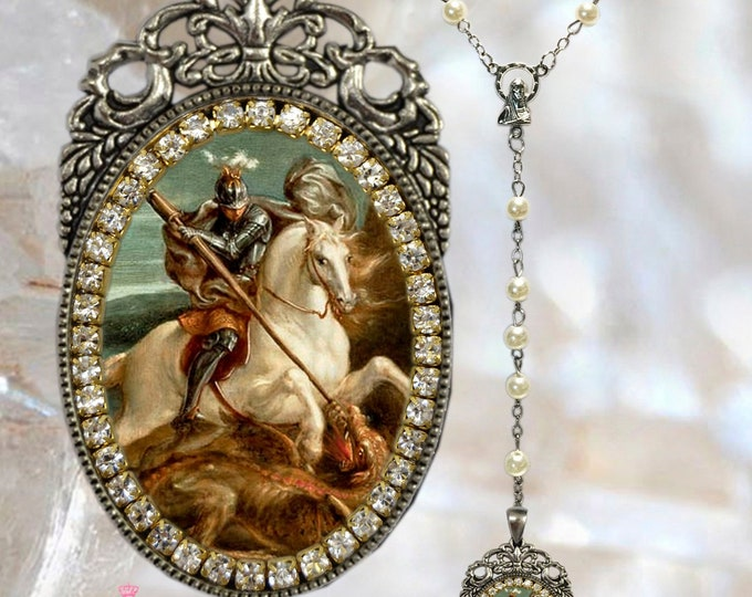 St. George Rosary (With the Dragon) - Patron Saint of England Handmade Necklace