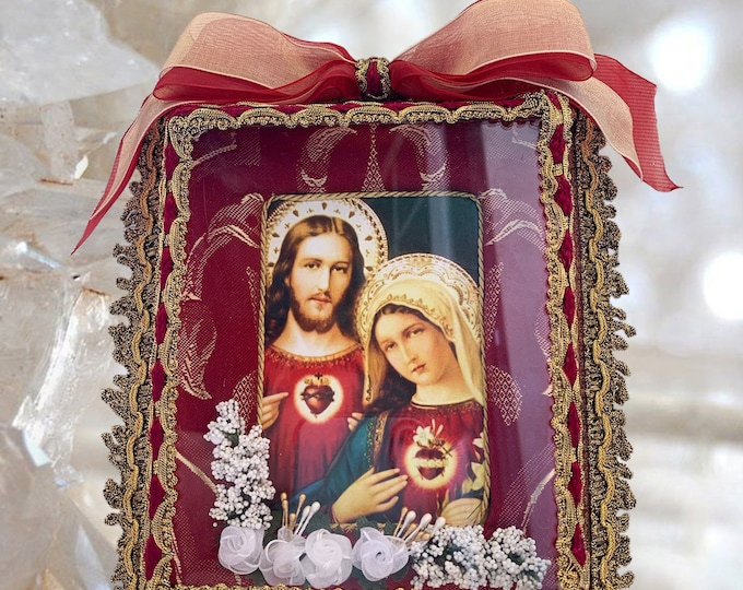 UNIQUE SHRINE Our Lady Mary and Jesus EXCLUSIVE Altar, Catholic Christian Religious Art