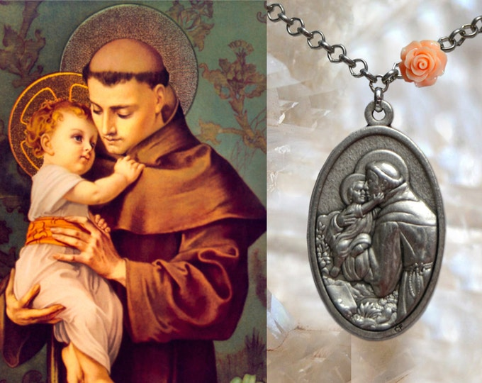 Anthony of Padua Necklace - Santo António de Lisboa - Patron Saint Of Lisbon; Lost Items; Lost People & Lost Souls - Handmade Jewelry