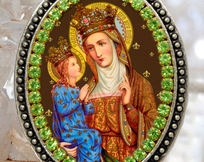 Saint Anne – Necklace - Patroness of Childless People; Children; Homemakers; Housewives; Miners; Mothers; Poverty; Pregnancy & Sterility