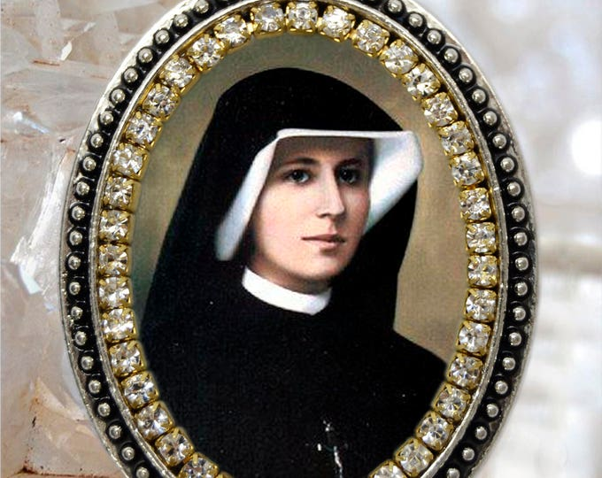 Saint Maria Faustina Kowalska of the Blessed Sacrament Handmade Necklace Faustyna Christian Religious Jewelry Medal Pendant