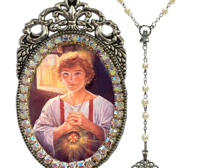 Tarcisius or Tarsicius Rosary - Patron Saint of Altar Servers & First Communicants - Handmade Christian Religious Jewelry -  Santo Tarcisio