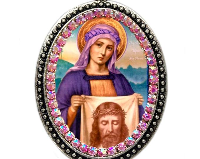Saint Veronica Necklace- Patron Saint of Laundry Workers & Photographers