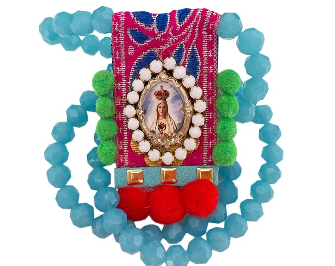 UNIQUE Our Lady of Fátima Scapular - Necklace