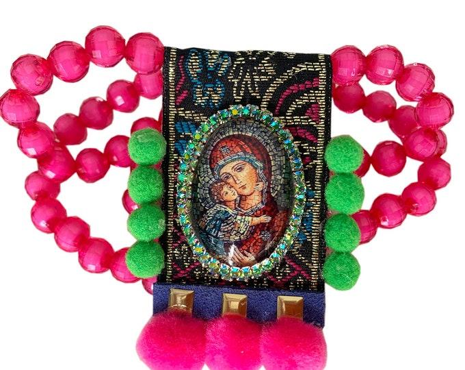 UNIQUE Perpetual Help Scapular - Patroness of Haiti; Redemptorist Order & Almoradi (Spain) - Our Lady of Perpetual Succour Theotokos