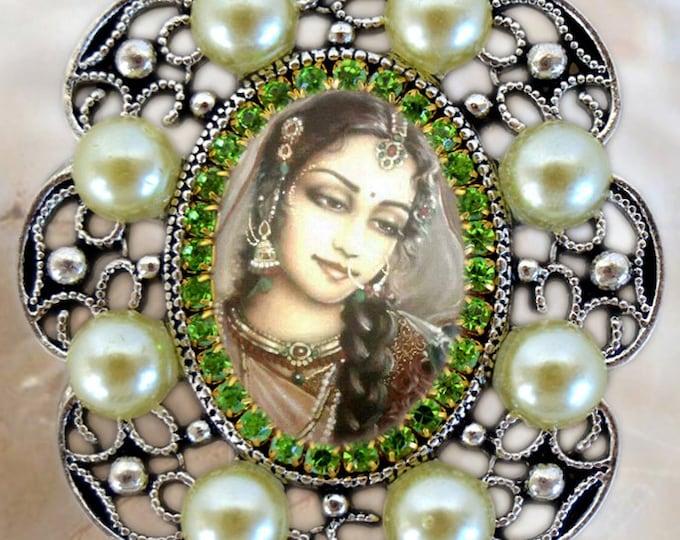 Goddess Parvati Handmade Necklace Hindu Indian Devotion Charm Jewelry Medal Pendant