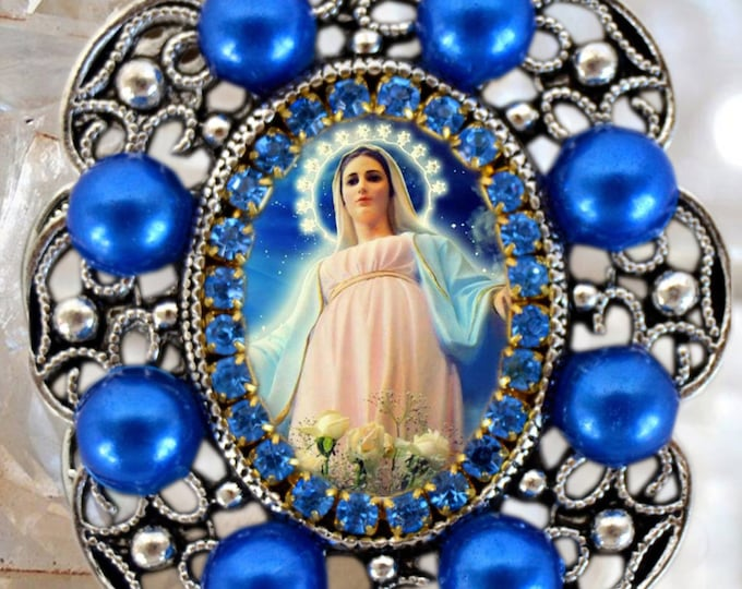 Our Lady of Medjugorje Handmade Necklace Catholic Christian Religious Jewelry Medal Pendant