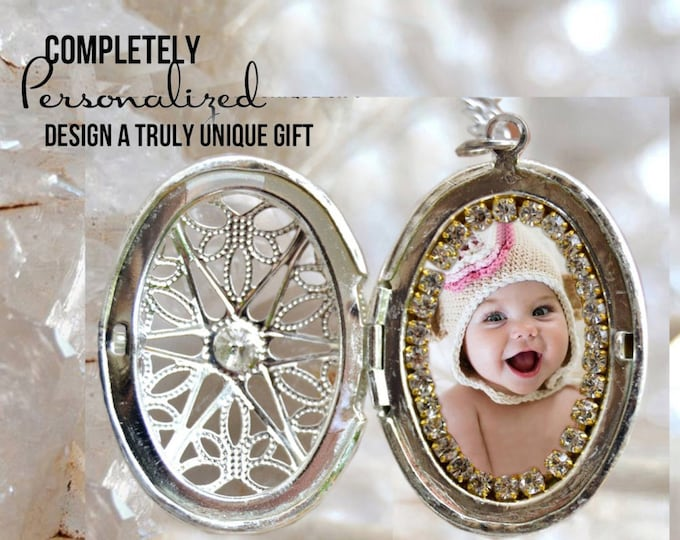 Your Own Photo - Custom Picture Locket Necklace - Personalized Necklace - Photo Jewelry - Photo Necklace - Photo Pendant Necklace