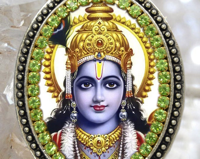 Lord Vishnu Handmade Necklace Hindu Trinity Jewelry Medal Pendant Vish-nuu or Wish-nuu