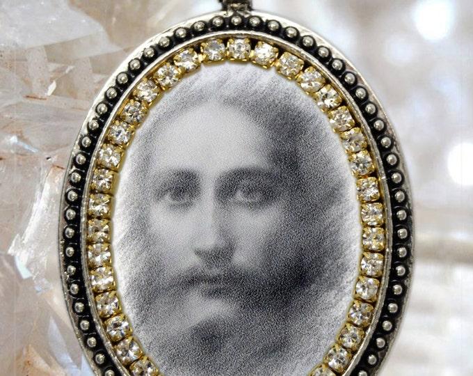 Jesus Christ  Handmade Necklace Religious Christian Jewelry Medal Pendant