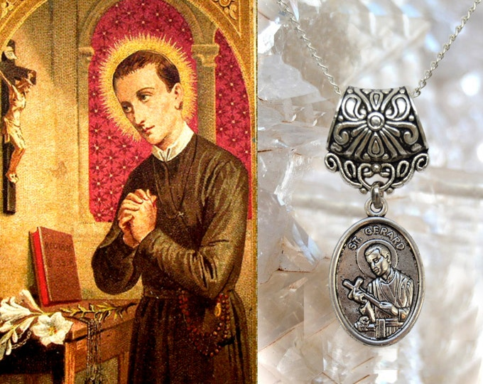 St Gerard Majella , Charm Necklace Catholic Christian Religious Jewelry Pendant