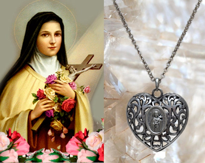 Heart of St. Therese of Lisieux- The Little Flower - Patroness of Missionaries; HIV/AIDS Sufferers; Florists; Gardeners & Loss of Parents