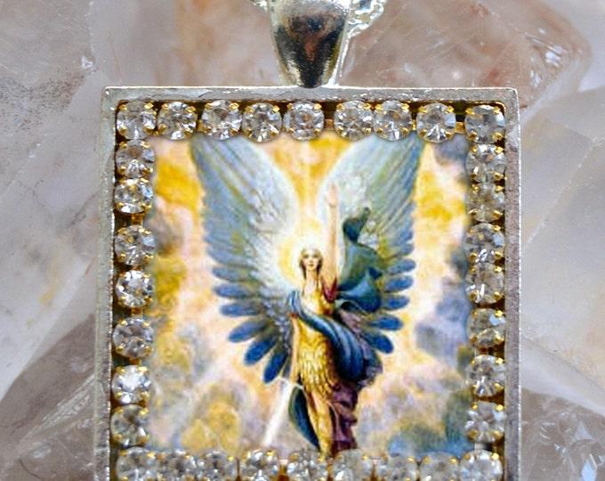 St. Michael Archangel Handmade Necklace Catholic Christian Religious Jewelry Medal Scapular Pendant