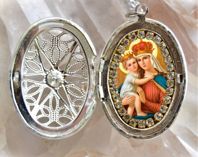 Our Lady of Good Remedy Handmade Necklace Catholic Christian Religious Jewelry Medal Pendant Nossa Senhora dos Remédios
