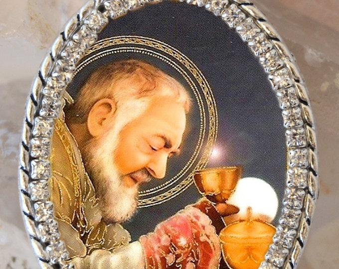 St. Padre Pio Handmade Necklace Catholic Christian Religious Jewelry Medal Pendant
