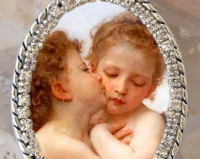 The Kiss of Angels Handmade Necklace Catholic Christian Religious Jewelry Medal Pendant