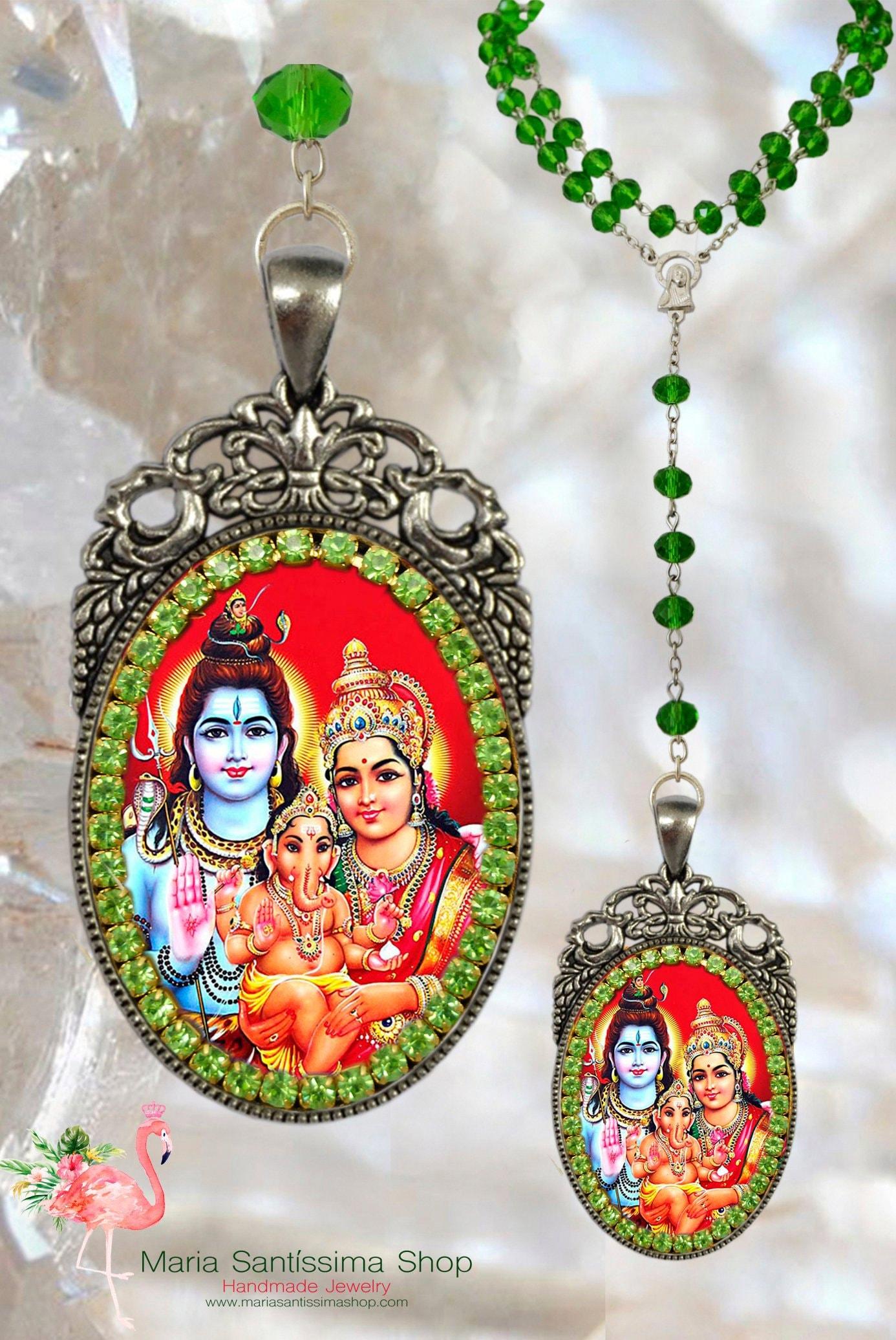 Vasudeva Tenderness and Love Necklace Hindu Jewelry Govinda Madhusudhana Mukunda Krishna Leela /& Mother Yasoda Rosary God of Compassion