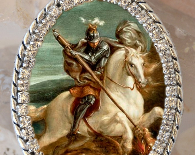 St. George With the Dragon - Patron Saint of England Handmade Necklace