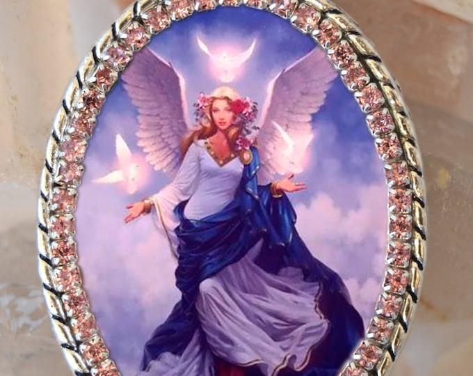 Guardian Angel Handmade Necklace Catholic Christian Religious Jewelry Medal Pendant