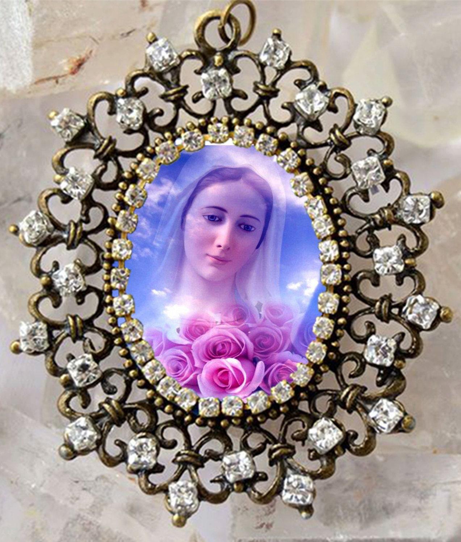 Our Lady of Medjugorje Handmade Necklace Catholic