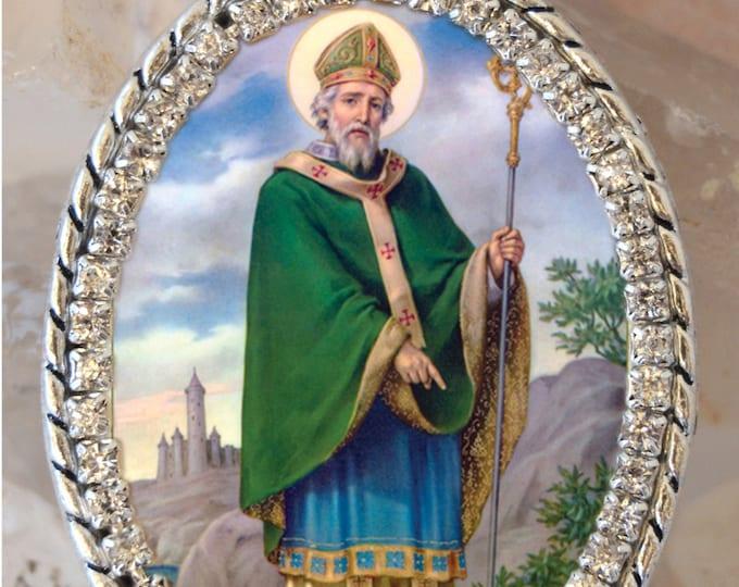St. Patrick Handmade Necklace Catholic Christian Religious Charm Jewelry Medal Pendant