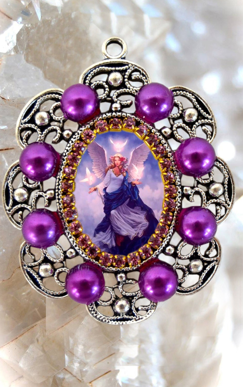 Guardian Angel Handmade Necklace Catholic Christian