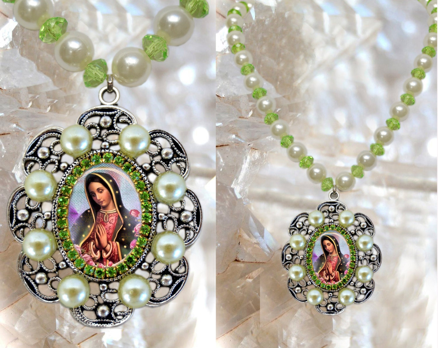 Our Lady of Guadalupe Handmade Necklace Catholic