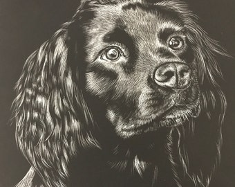 Custom Animal Scratchboard