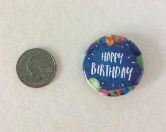 """TEN BIRTHDAY 1.5"""" pin-back buttons - Primary (10)"""