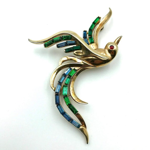 Trifari Alfred Philippe 1950s Bird Brooch