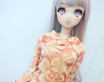 Sd / Dd - Orange Peach lace top