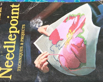 Needle point Techniques & Projects Sunset Book 1975 Vintage craft book Needlepoint