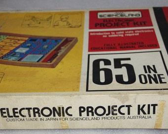Science Fair vintage electronic kit vintage toy vintage science kit Made in Japan original box and instruction booklet 60's vintage