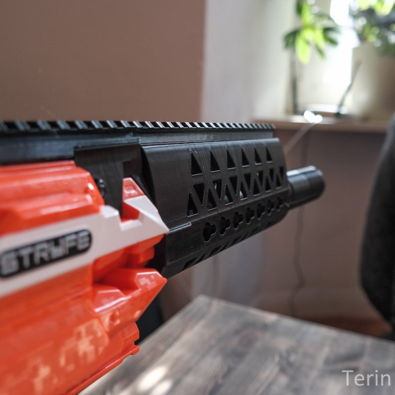 Nerf Blaster Custom AR-15 Key Mod Handguard / Barrel-Extension *Version  Stryfe-1*