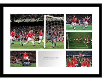 537be09fb6e8 Manchester United 1999 Champions League Final Photo Memorabilia